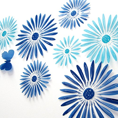 ROPALIA Home Decor 16Pcs 3D Flower Removable Wall Sticker Room Decals Stickers (Removable Wall Stickers compare prices)