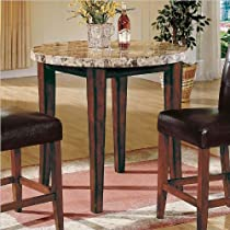 Big Sale Best Cheap Deals Steve Silver Company Montibello Round Counter Height Table in Rich Cherry Finish