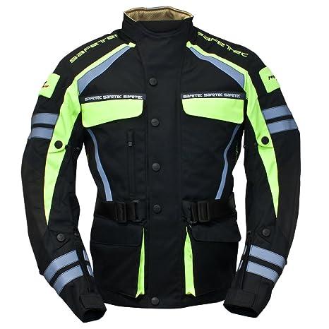 Roleff Racewear 9536 Blouson Moto Textile Safetec, Noir/Jaune Fluo, XXL