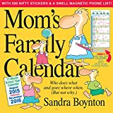 Mom's Family 17-Month School 2015-2016 Calendar