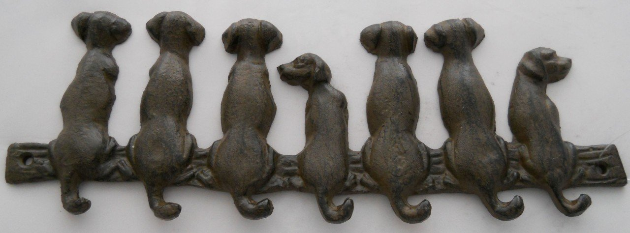 dog wall key holder