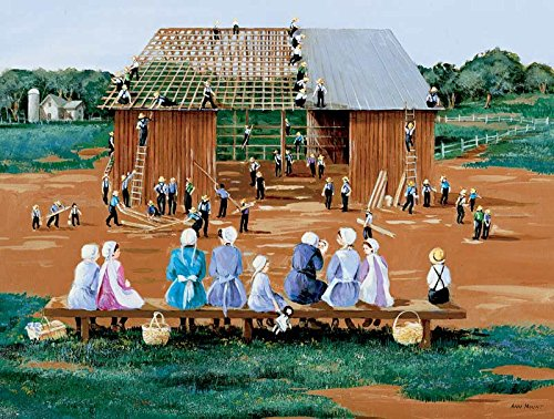 Barn Raising a 500-Piece Jigsaw Puzzle by Sunsout Inc.