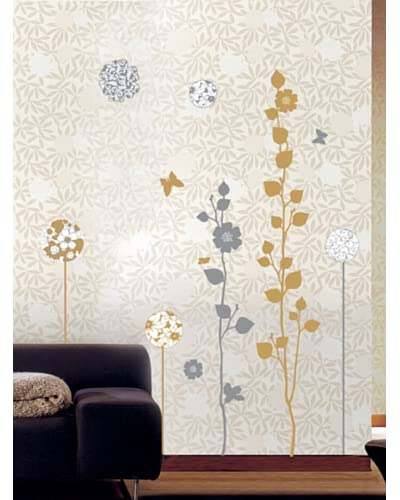 Ambiance Live Vinilo Decorativo Elegant sand and grey trees Multicolor