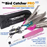 Find The Bird Catcher PRO EX! Fully Extendable & Retractable Feather Cat Teaser Wand with BONUS Storage Bag + Two (2) Ultra Guinea Fowl Feather Refills Replacement Feathers! Addictive Interactive Cat Toys For Cats (Both Kittens Older Felines). Cat Training Aids, Cat Exercise = Cat Weight Loss! Like Go Cat Toys Da Bird Cat Toy Wand Cat Toys BEST Cat Products ➯