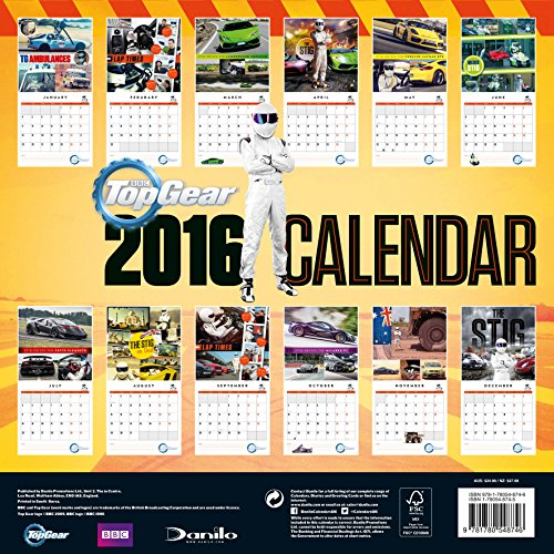 The Official Top Gear 2016 Square Calendar