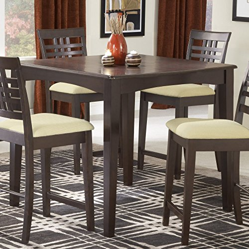 Hillsdale Tiburon 40 x 40 Counter Height Fix Top Dining Table-Espresso (Countertop Table Sets compare prices)