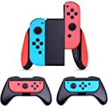 Compatible Nintendo Switch Joy-Con Grip (Updated Version),AISITIN [3-Pack] Wear-Resistant Game Controller Handle Case Kit for Nintendo Switch Grip (Color: 3-Pack Black)