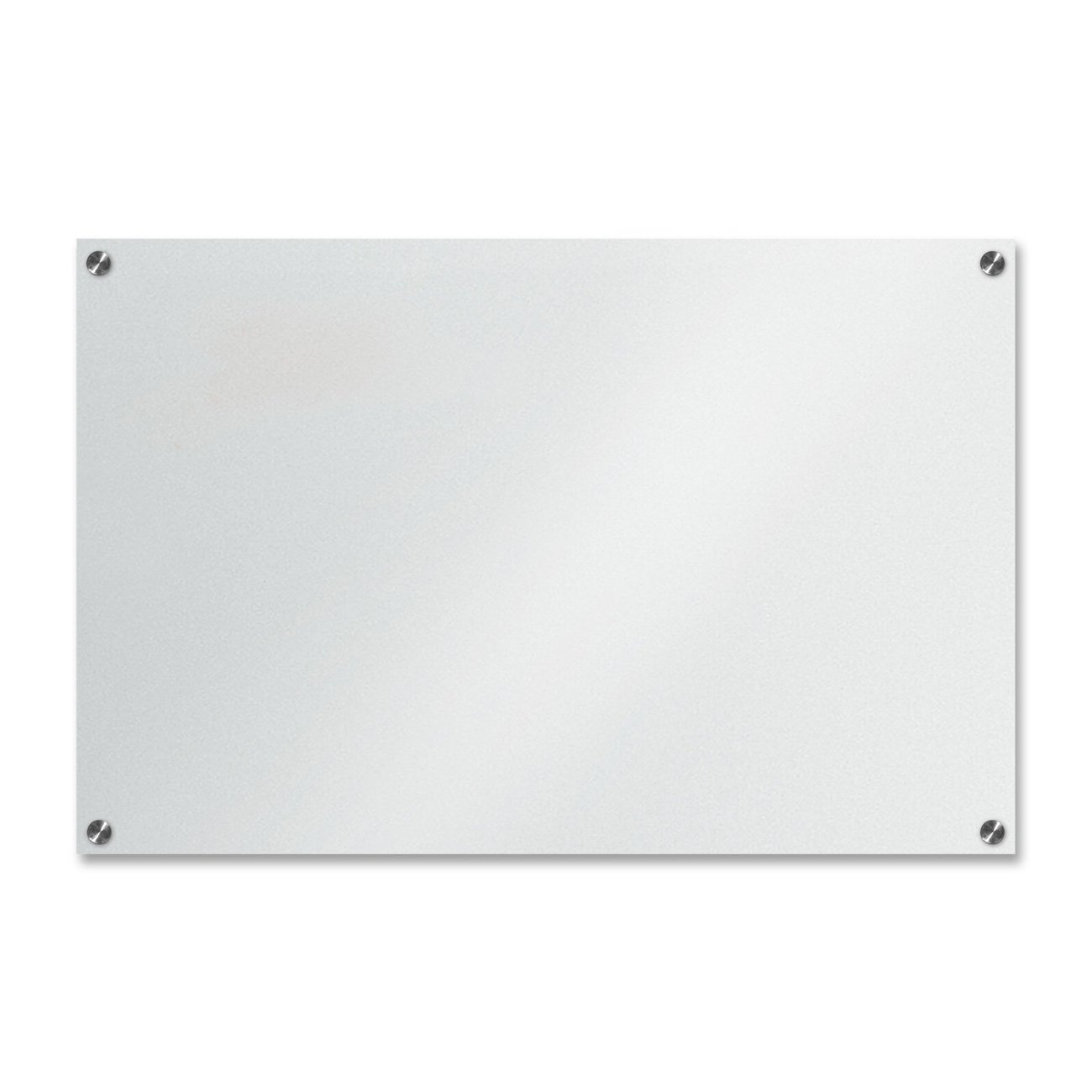 Clear Glass Panels On White Surface: White Or Black Glass Dry Erase Boards: Clean And Unique
