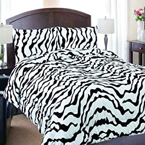 Amazon.com - King Size Zebra Print Comforter Only - Zebra ...