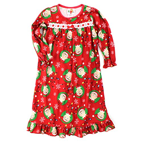 Elf on the Shelf Toddler Girls Red Flannel Nightgown