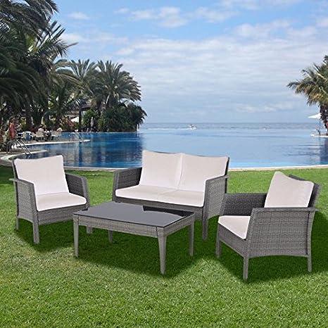 4 Piece Rattan Premium Garden Furniture Sofa Set