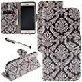 """iPhone 6 / iPhone 6S Case, Urvoix(TM) Card Holder Stand Leather Wallet Case - Floral Totem Flip Cover for 4.7"""" iPhone6/6S (NOT for 6Plus) by Urvoix"""
