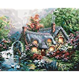 """Plaid:Craft  Paint By Number Kit 16""""X20""""-Cottage Mill"""