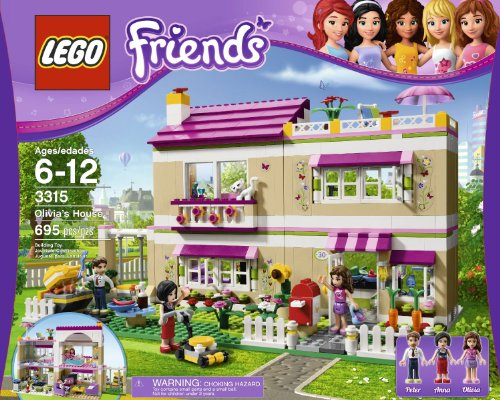 Friends LEGO 695 PCS Pop Olivia's House Brick Box Building Toys