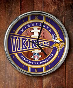 Minnesota Vikings Chrome Clock by The Memory Company
