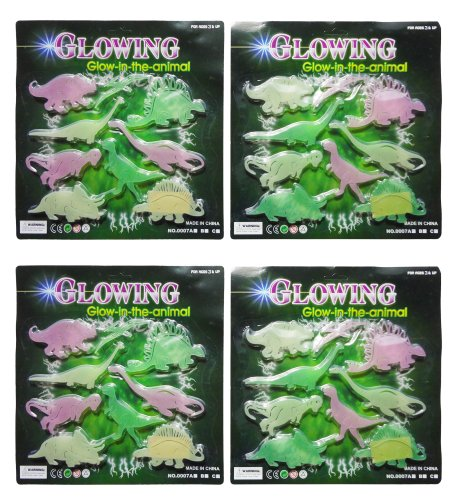 Best Glow In The Dark Dinosaur Wall Decals Stickers 4 Pack Makes The Best Gift Idea And Stocking Stuffer Christmas Gift Ideas For Newborns Kids And Teens. Guaranteed To Please. (Dinosaurs Ii) front-599641