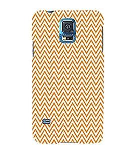 Orange Chevron Cute Fashion 3D Hard Polycarbonate Designer Back Case Cover for Samsung Galaxy S5 Neo :: Samsung Galaxy S5 Neo G903F :: Samsung Galaxy S5 Neo G903W