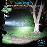 BYB-800-Lumens-Rechargeable-T6-LED-Flashlight-Adjustable-Focus-Tactical-Flashlight-with-AC-Charger-and-26650-Battery-Bonus-Solar-Power-Keychain-Flashlight-Included