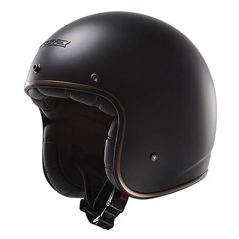 LS2 Casque de moto noir Of583 Bobber Gloss