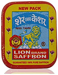 Lion Brand 100% Pure Organic Saffron Kashmir Kesar - 1 gm