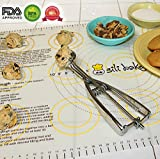 Pastry Mat With Measurements For Rolling Pizza, Pies, Cookies and Sheets of Dough. Silicone of Highest Grade FDA Certified. Sticks to Countertop, Durable and Reusable. Non Stick and Non Slip. Displays Weight, Oven and Liquids Conversions Right At Your Fingertips. Love Your Pastry Mat or Your Money Back. By Sili Bake