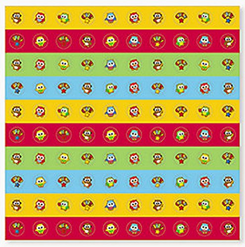 Owl Mini Stickers (100 Stickers Per Sheet, 8 Sheets Per Unit)