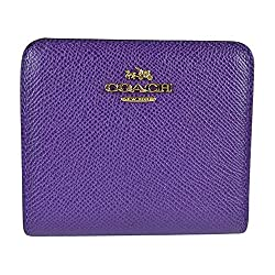 Coach Embossed Textured Leather Small Wallet