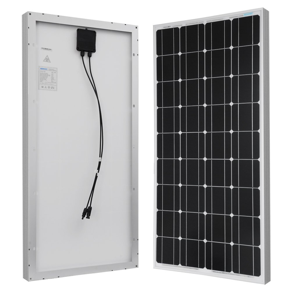 RENOGY 100 Watt 100w Monocrystalline Photovoltaic PV Solar Panel Module 12V Battery Charging