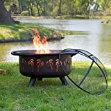 Red-Ember-Oasis-Fire-Pit-with-Grill-Grate-and-FREE-Cover