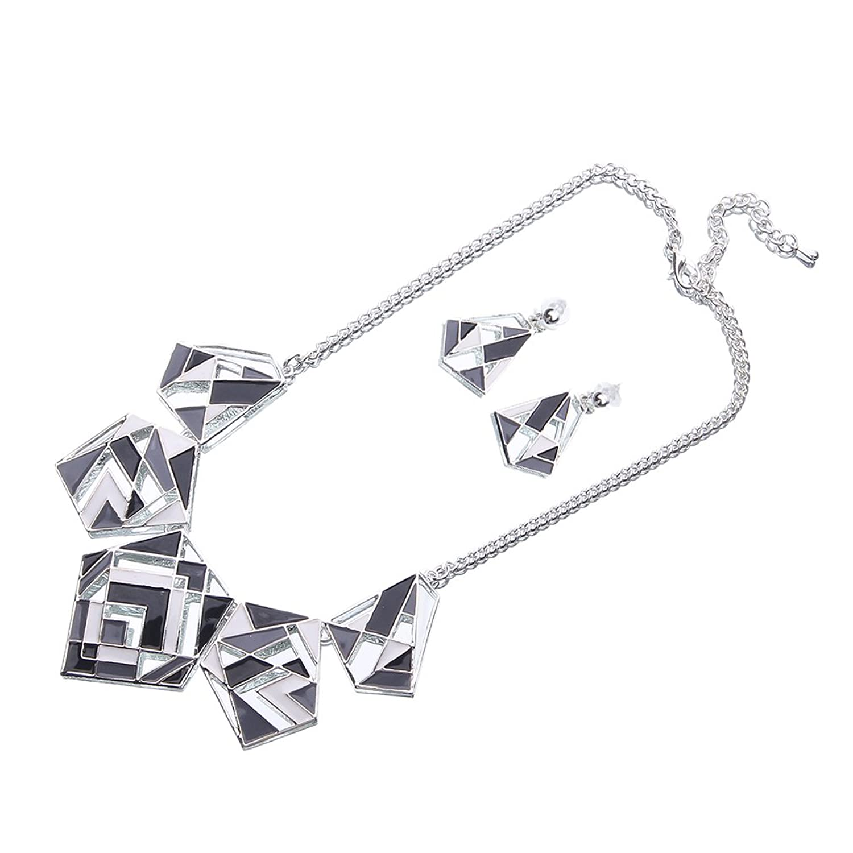 Lukis 1 Set 2 Teilig (eine Halskette und ein Paar Ohrringe) für Damen und Mädchen Modeschmuck Zink Legierung Schmelz kaufen