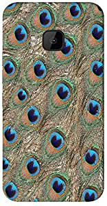 Timpax Hard Back Case Cover Printed Design : A peacock feather.Specifically Design For : HTC-M9 ( M-Nine)