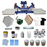4-2 Screen Printing Press with Materials Starter Screen Printing Kit