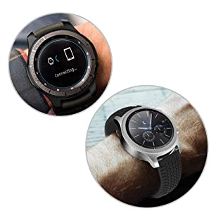 [2+1 Pack] Compatible Samsung Galaxy Watch 46mm/ Gear S3 Case Cover with Screen Protector, Soft TPU Plated Protective Bumper Shell + Tempered Glass Screen Protector Film for Gear S3 Frontier/Classic (Color: Galaxy Gear S3/Galaxy Watch 46mm Screen Protector x 2 and Black Case x 1, Tamaño: One Size)