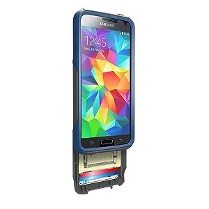 OtterBox Commuter Wallet - Funda con monedero para Samsung Galaxy S5, diseño blueprint Otterbox  Electrónica revisión y más información