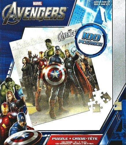 Marvel Avengers Puzzles Thor, Hawkeye, Captain America 100 piece Jigsaw - 1