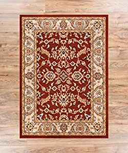 Barton red sarouk vintage modern casual for Traditional kitchen rugs