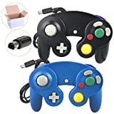 Poulep NGC Wired Controller for Wii Gamecube (Black and Bule3) (Color: Black and Bule3)