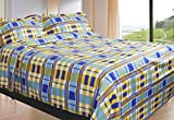 King Size 100% Cotton Bedsheet and Pillowcase Set - With 100