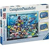 Ravensburger 14891 - Schillernder Ozean - 500 Teile Complete Puzzle Set