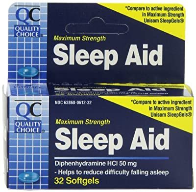 Quality Choice Maximum Strength Sleep Aid Softgels 32 Count, Boxes (Pack of 6)