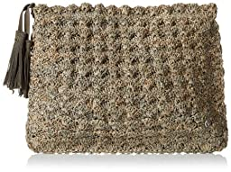 Flora Bella Compostela Clutch,Pebble/Silver,One Size