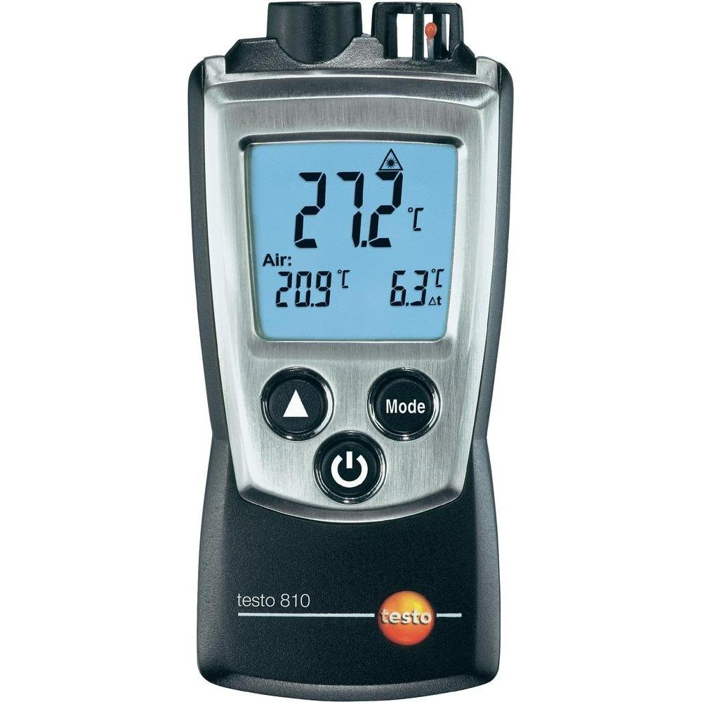 Testo 0560 0810 810 2Kanal TemperaturMessgerät mit InfrarotThermometer, LaserMessfleckmarkierung, integriertes NTC LuftThermometer, inklusive Schutzkappe  BaumarktKundenbewertung und weitere Informationen