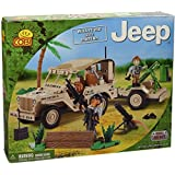 COBI Small Army Jeep Willys MB with Mortar Building Kit