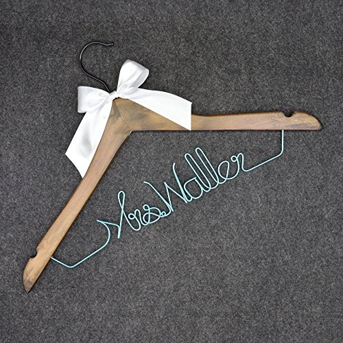 Wedding Brown Wood Suit Hanger, Personalized Hanger,Bridesmaids Hanger
