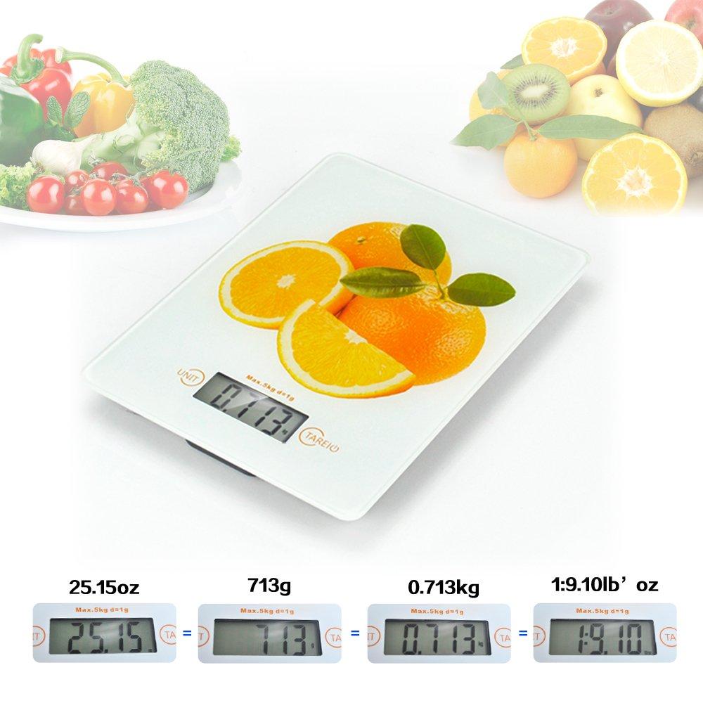 BESTEK® BTKC001 Tempered Glass Digital Kitchen Food Scale