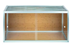 4'x2'x2' Zen Habitats Reptile Enclosures with Wood Panels (Color: Aluminum and Bamboo Finish)