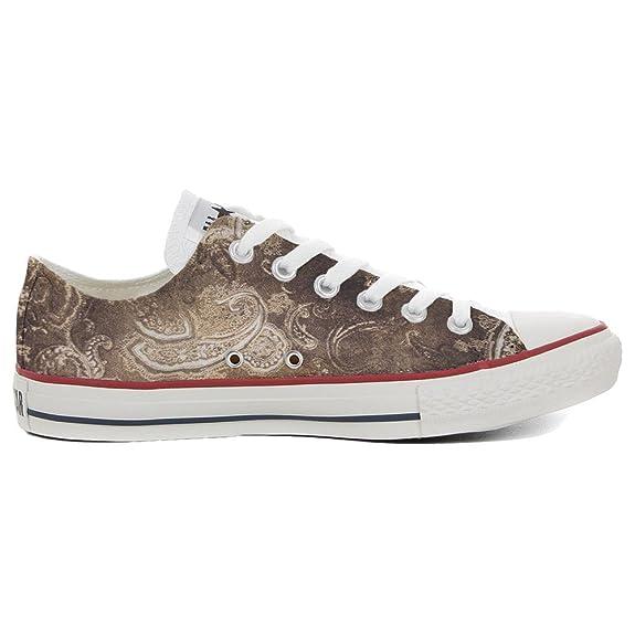 CONVERSE personnalisé All Star Low Sneaker unisex (produit artisanal) Gold Paisley