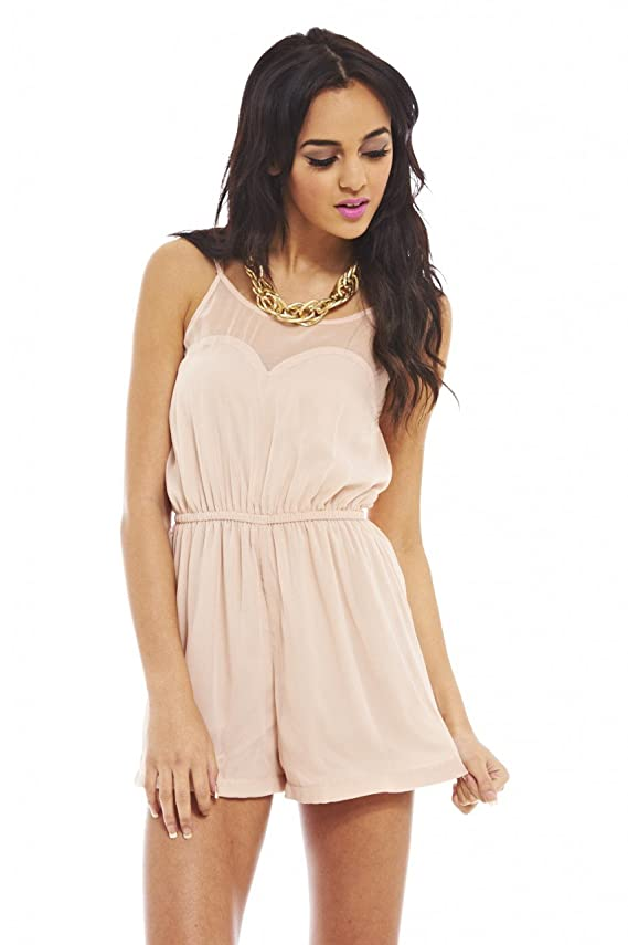 AX Paris Women's Plain Sweetheart Romper
