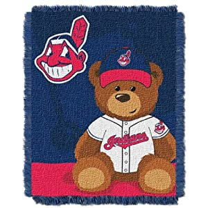 MLB Cleveland Indians Field Woven Jacquard Baby Throw Blanket, 36x46-Inch by Northwest