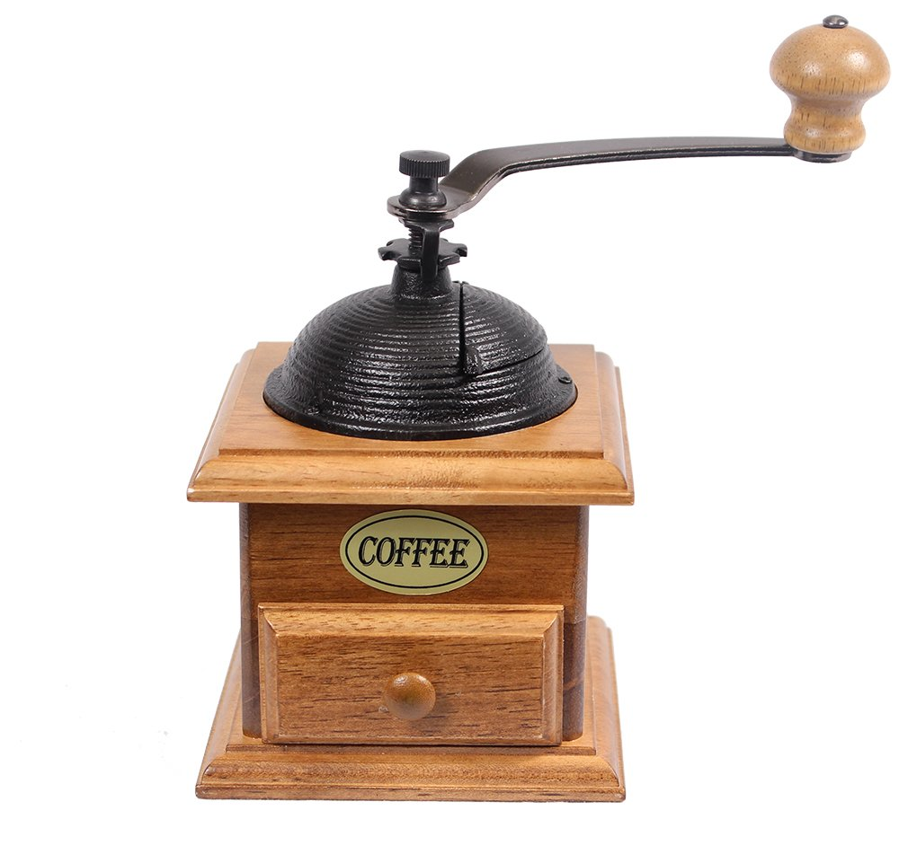 Manual Cast Iron Coffee Bean Grinder with Drawer 0